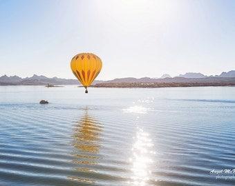 Hot Air Balloon, Lake Havasu City, Arizona, fine art, landscape photography print