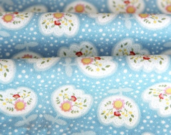Cotton Fabric Tulip Blue By The Yard
