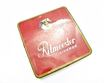 Vintage 1960's Ritmeester Livarde Cigar Tin