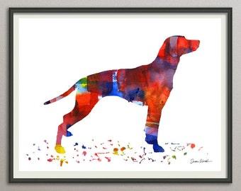 dalmatian art print watercolor print  silhouette painting print poster wall art decor drawing, dog wall art silhouette
