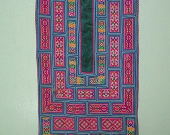 Hmong Vintage Hand embroidered Fabric  Rare (#04)
