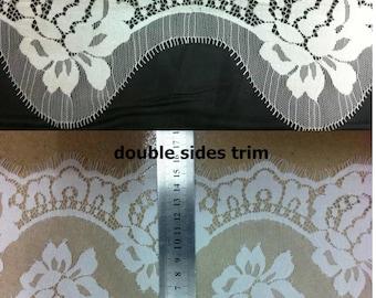 3meters DIY Eyelash lace trim flower ribbon DIY material ,lace belt white trim  for wedding black Eyelash lace