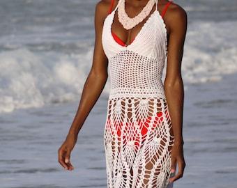 Handmade crochet dress see trough 03. Bikini cover up