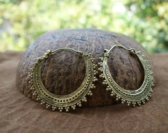 brass or silver plated HOOPS NOMAD