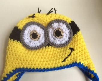 Minion Inspired Crochet Hat