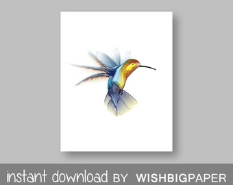 30% OFF! Hummingbird Art -Instant Download- Hummingbird Print. Printable Art. Hummingbird Wall Art. Hummingbird Decor. Hummingbird Printable