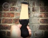 Wide Handmade Veg-Tanned Cowhide Razor Shaving Strop with Padded Handle