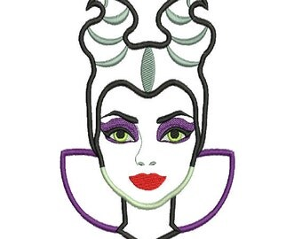 Maleficent (Sleeping Beauty Princess ) Applique Embroidery Design 5x7,6x10, 7x11