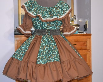 Plus size Square Dance skirt and top [ FREE SHIPPING ]