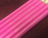 What Would Blair Waldorf Do? Set of Personalized Pencils