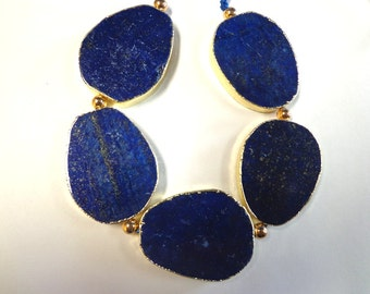 Beautiful Lapis slabs with Gold Lining