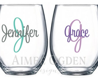 Wine Glass Decal Etsy - Diy vinyl decals for wine glasses