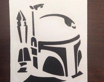 2.5 inch Star Wars Boba Fett Decal