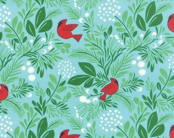 Jingle Birds Berries Ice by Kate Spain for Moda