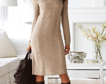 Knitted in wool dress
