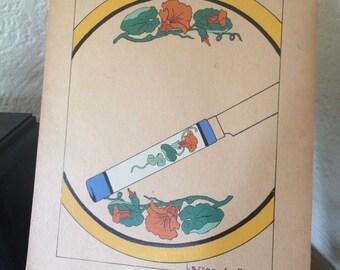 1927 art nouveau art instruction plate