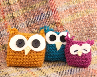 Owl Family - Learn to Knit Kit