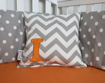Chevron letter pillow cover - Many Colors - Chevron and Minky Pillow cover