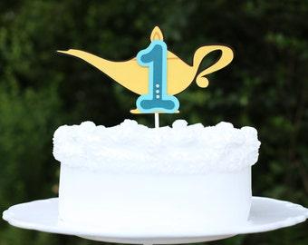 Aladdin Jasmine Genie (Arabian) - Cake Topper - Lamp With Age