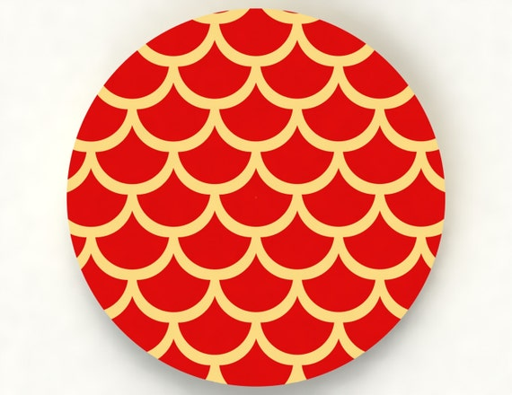 Fish scale cookie stencil sc050003 by yummycutz on etsy for Fish scale stencil