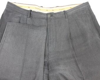 Vintage Tommy Bahama Silk Black Dress Pant 41 32