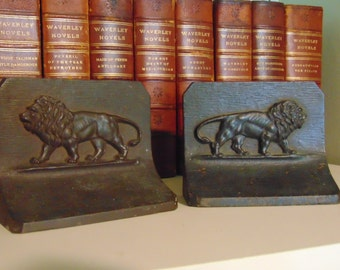 Signed Bradley & Hubbard - French Lion - Bookends