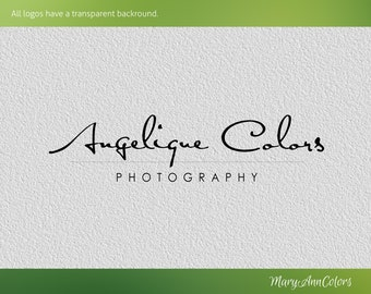 Pre-made logo, Graphic Logo Design, photography,brand,name,branding identity,customized,script,color,black,white