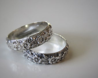 Made to Order Sterling Ring Floral Band