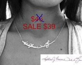 Signature Necklace - 925 Sterling Silver - Personalized Handwriting Necklace - Personalized Signature Necklace - Personalized Necklace