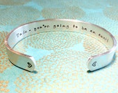 Aunt Gift | Auntie Gift | Pregnancy Announcement | Dude - you're going to be an aunt! - Custom Hand Stamped Bracelet by MadeByMishka.com