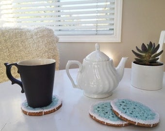 Coaster Set with Cork Bottom PetiteFables