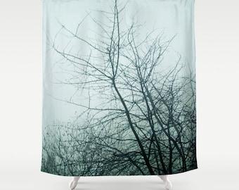 Shower Curtain, Bathroom Decor, Modern Shower Curtain, Photo Curtain, Tree  Shower Curtain