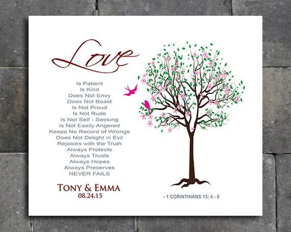 13 Wedding Anniversary Gifts: Items Similar To 1 Corinthians 13