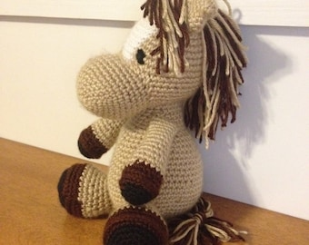 Crocheted Horse ~ Crocheted Pony ~ Stuffed Horse ~ Stuffed Animal