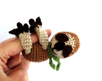 crochet sloth, lazy animal sloth, amigurumi sloth, plushie little doll, stuffed sloth, sloth doll, crochet toy