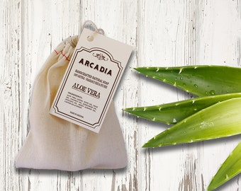 Aloe Vera Soap, Fragrance Free Soap, Natural handmade soap, Moisturizing soap, Vegan Soap