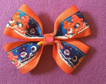 Care bear hair bow orange