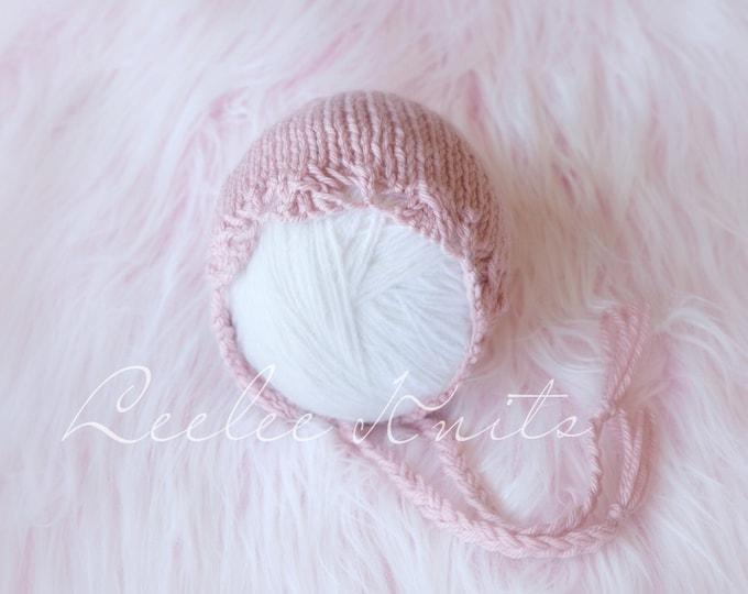 Pattern - Lace Trim Newborn Baby Bonnet Pattern