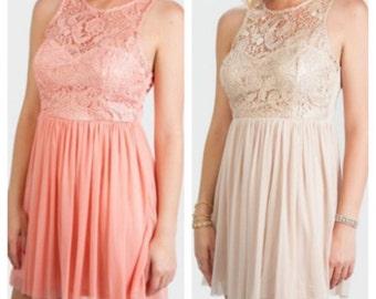 Romantic lace dress
