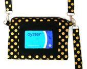 Clear window wristlet. Travel card purse. Oyster card pouch. Travel card wristlet. ID wristlet