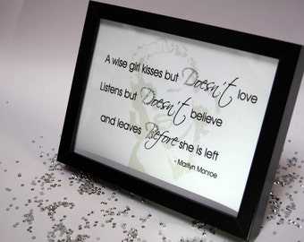 A Wise Girl Kisses But Does Not Love, Sparkle Word Art Pictures, Quotes, Sayings, Home Decor