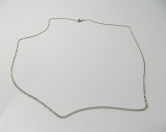 Vintage Sterling Silver round, interesting Cable  Necklace 2.3g U5509