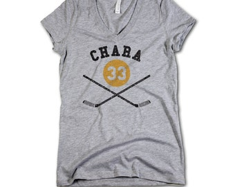 Zdeno chara NHLPA Officially Licensed Boston Women's V-Neck S-2XL Zdeno chara sticks Y