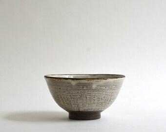 Kushime Kohiki Chawan - Brashmark slip Kohiki rice bowl, Made to Order in 2 Months, Fumika Miyake (13003116)