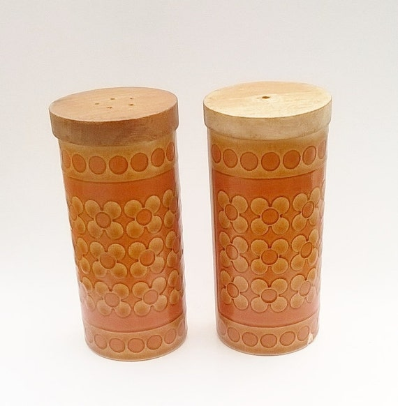 Hornsea Salt And Pepper Pots Hornsea Saffron Condiment Pair