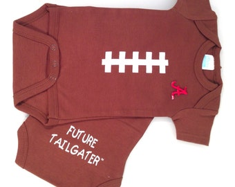 Alabama Crimson Tide Future Tailgater Football Baby Bodysuit