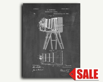 Patent Print - Photographic Camera Patent Wall Art Poster Print