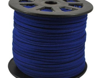 Wholesale-100Yds Dark Blue faux suede cord, 3mm,Dark Blue faux suede cord for bracelets 3m