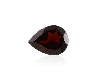 Mozambique Red Garnet Loose Gemstone Pear Cut 1A Quality 8x6mm TGW 1.05 cts.
