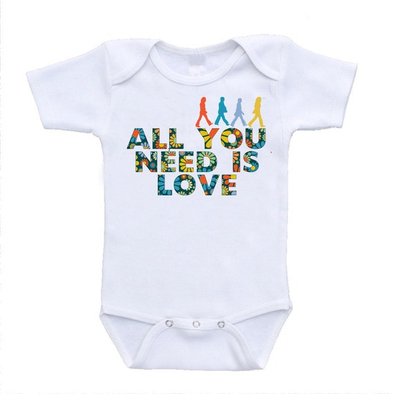All You Need Is Love Cute Funny Baby By Urbanskiesboutique